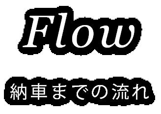 Flow 納車までの流れ